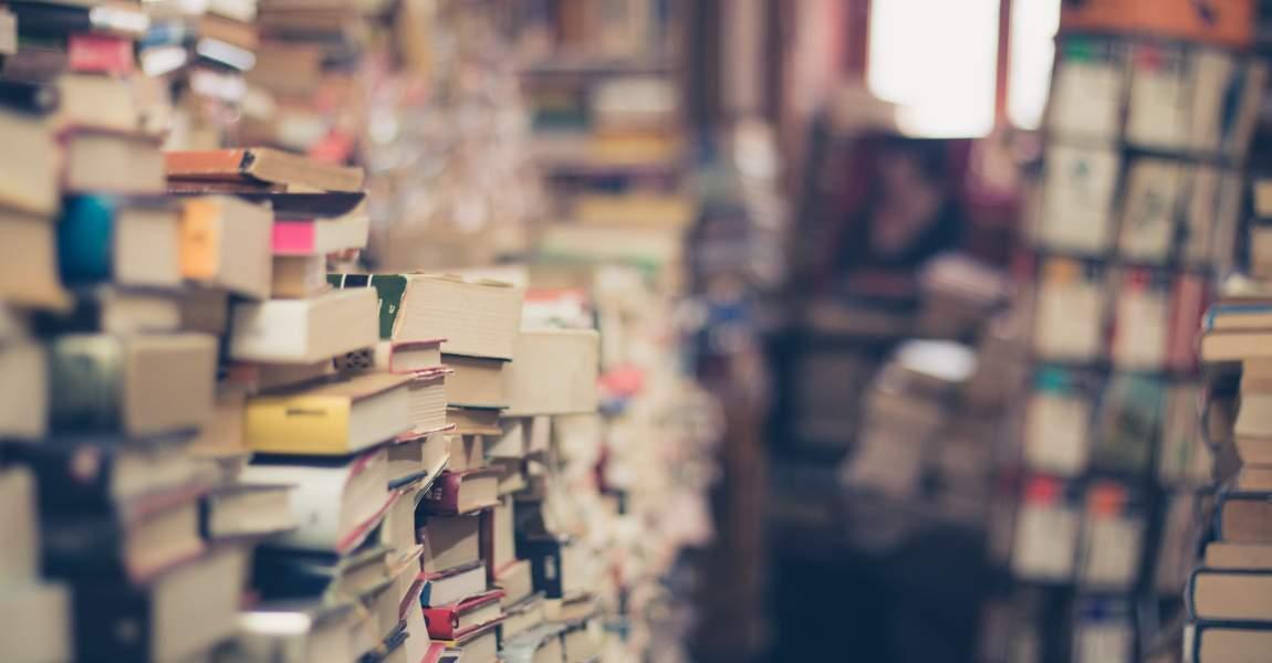 Книги, букинистический магазин, фото