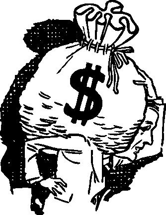Мешок, деньги, доллары, мешок с деньгами, картинка