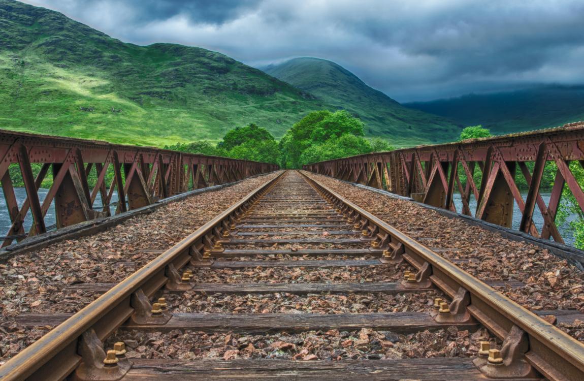 Железная дорога, горы, путь, счастье, дорога к счастью