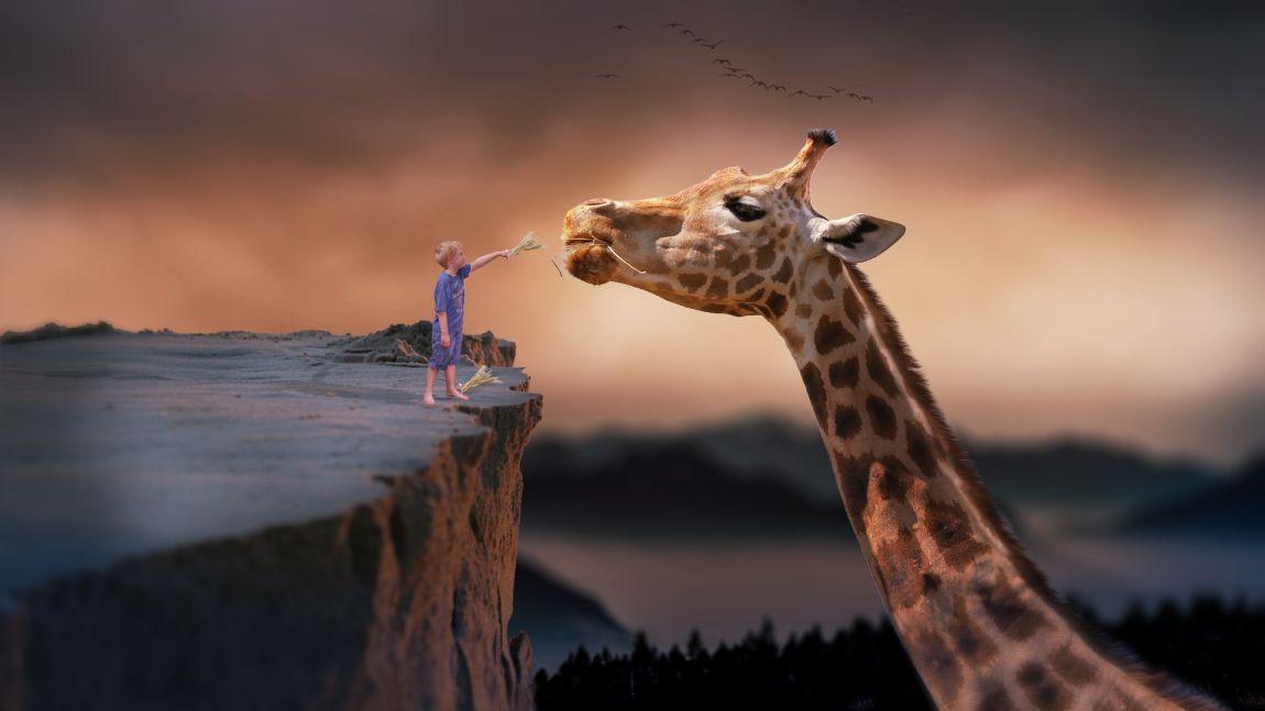 Рэй Брэдбери, мальчик и гигантский жираф, фантазия