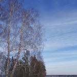 Закатное небо, март, Сибирь