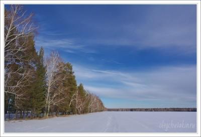 Небо, снег, солнце, фото, Олег Чувакин, 03