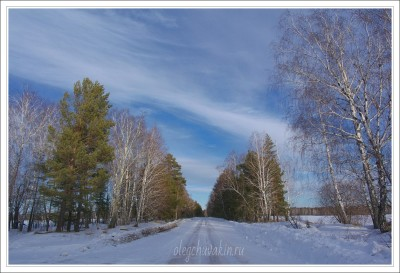 Небо, снег, солнце, фото, Олег Чувакин, 06