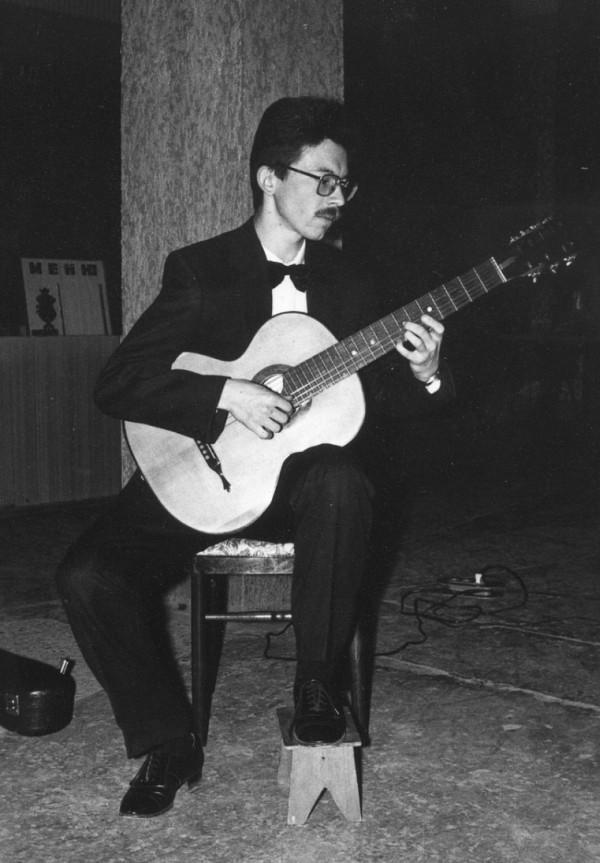 Гитара, семиструнная, мастер Станислав Москалёв, фото 1993 года
