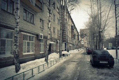 Тюмень, проезд Геологоразведчиков, дворы, фото