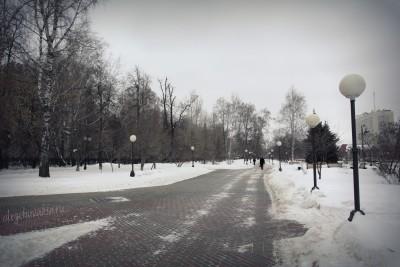 Текутьевский бульвар, Тюмень, фото, зима, февраль
