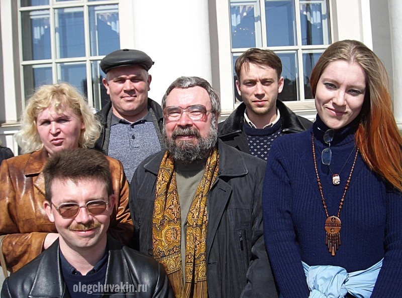 Николай Кузин, Виктор Захарченко, Олег Чувакин, ж/д вокзал, Екатеринбург, 2005, фото