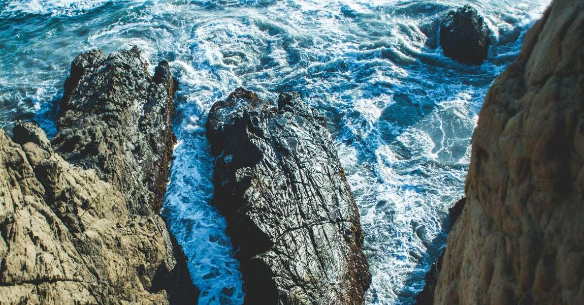 Море, скалы, волны, пена, остров, фото