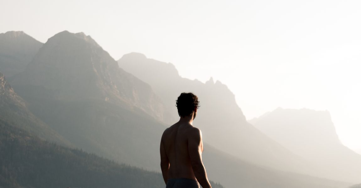 Человек, другая планета, горы, птицы, фото