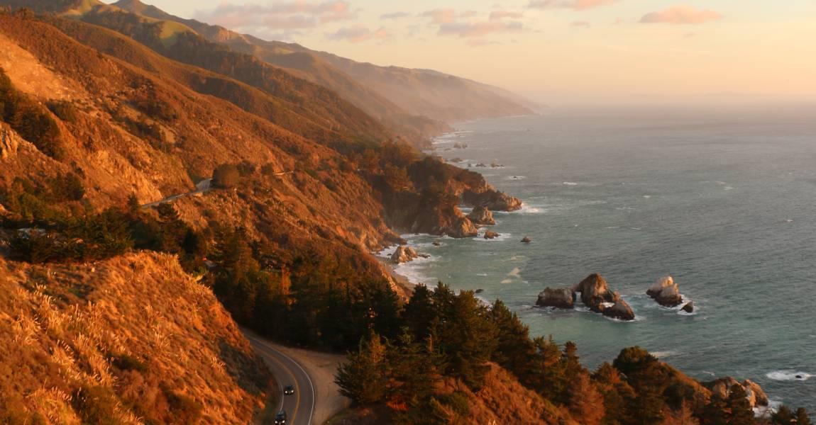 Дорога, горы, море, фото