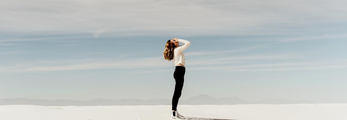 Психолог, женщина, линия, небо, будущее