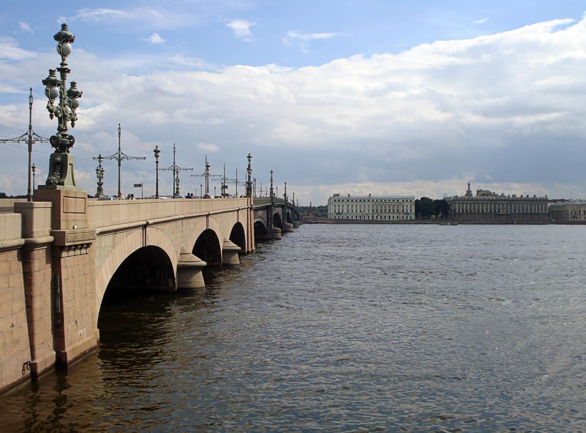 Троицкий мост, Нева, Санкт-Петербург, Питер