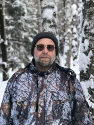 Олег Чувакин, фото, портрет, в лесу, 2019