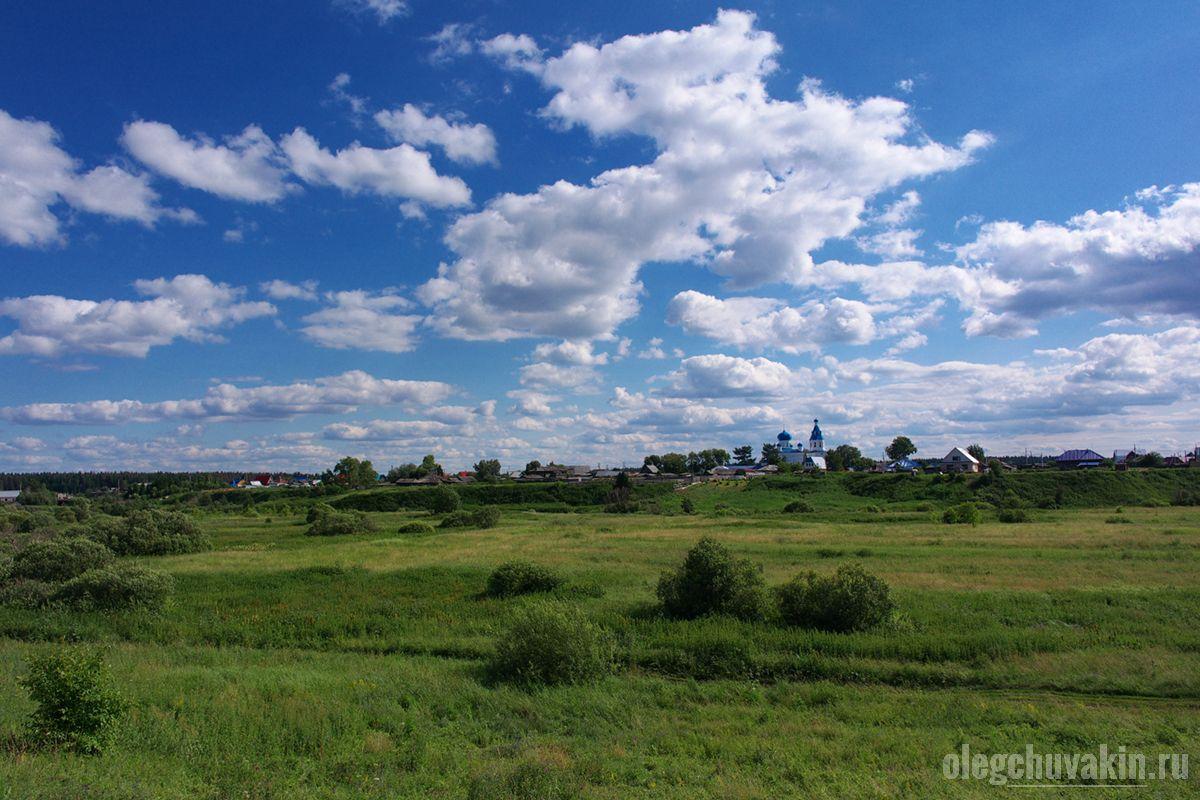 Церковь, Успенка, село, луга, фото