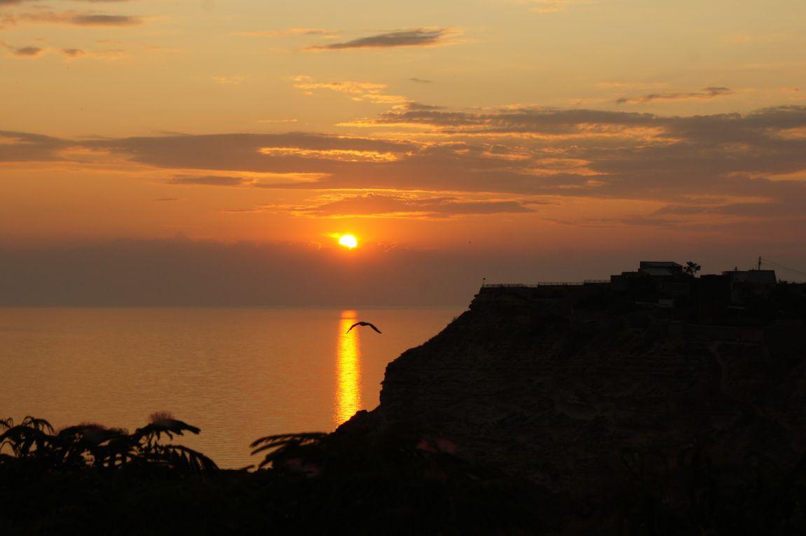 Крым, Фиолент, мыс, море, закат