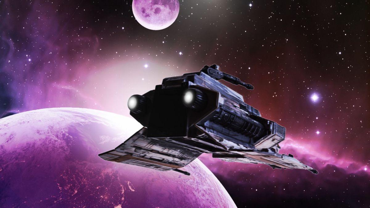 Космический корабль, быстрее скорости света, варп-двигатель