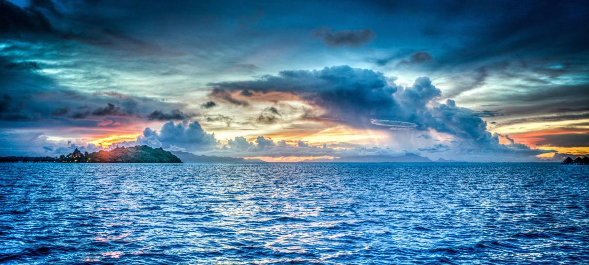 Бора-Бора, море, синее