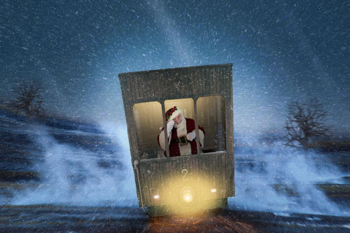 Новый год, метель, снег, зима, Дед Мороз, Санта-Клаус, любовь, счастье