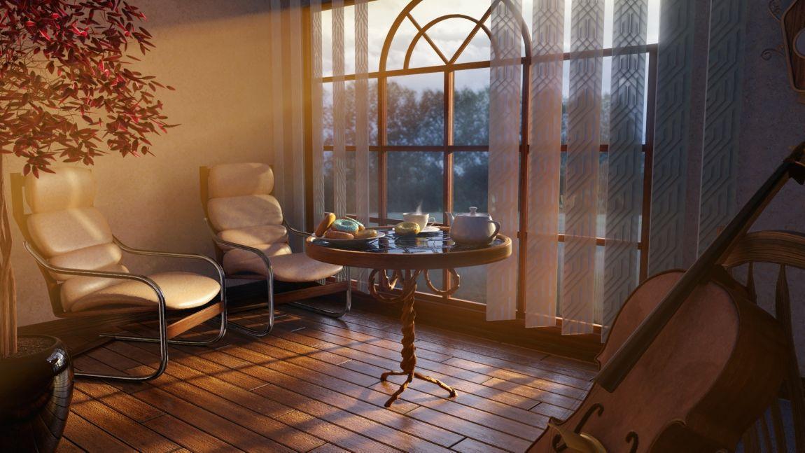 Кресло, комната, литература, музыка, виолончель, окно, чай, финал, конкурс, рассказы, осень