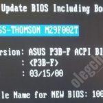 Asus P3B-F BIOS, имя файла, версия БИОС, обновить